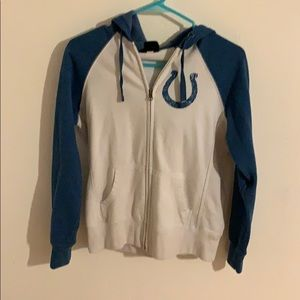 Women's Medium Indianapolis Colts zip up hoodie